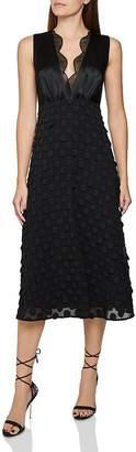 Reiss Leni Jacquard Dot Midi Dress