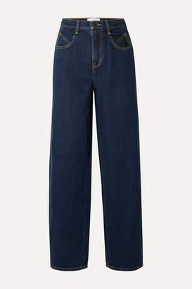 Current/Elliott Mid-rise Wide-leg Jeans - Blue