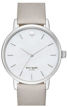 Women's Kate Spade New York 'Metro' Round Leather Strap Watch, 34Mm $175 thestylecure.com