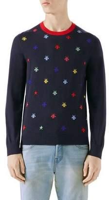 Gucci Bee Intarsia Sweater