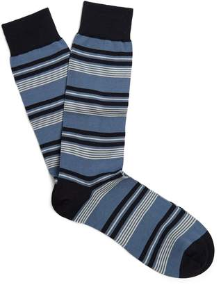 Pantherella Solitaire striped cotton-blend socks