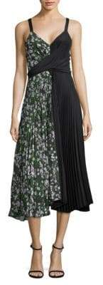 Camille Color Block Pleated Dress