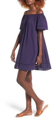 Women's Hinge Off The Shoulder Swing Dress $69 thestylecure.com
