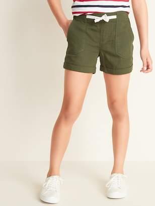 fb497176e Old Navy Herringbone-Twill Utility Pull-On Shorts for Girls