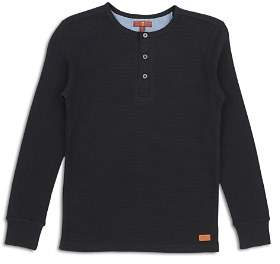 7 For All Mankind Boys' Thermal Henley Tee - Little Kid
