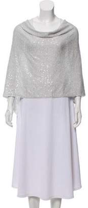 Minnie Rose High-Low Sequined Poncho w/ Tags
