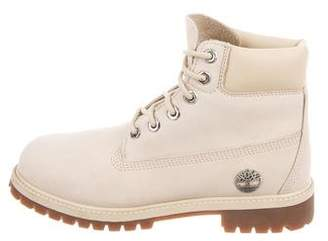 Timberland Suede Lace-Up Ankle Boots