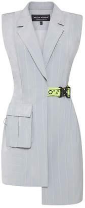 Whyte Studio The Hydro Sleeveless Blazer Dress Grey & Lime