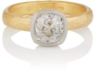 Malcolm Betts Women's Cushion-Cut White Diamond Ring