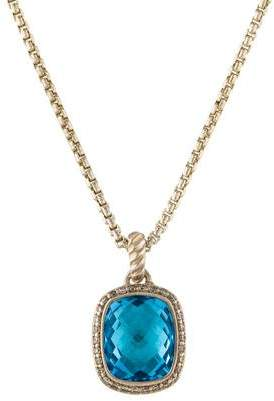 David Yurman Topaz & Diamond Noblesse Pendant Necklace