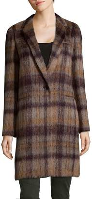 Lafayette 148 New York Women's Marabela Alpaca Wool Plaid Coat