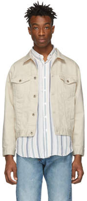 Naked & Famous Denim Denim Denim Off-White Denim Seed Jacket
