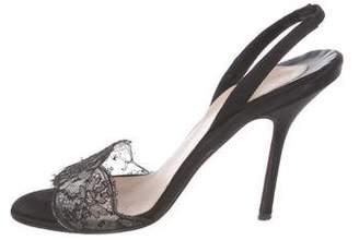 Christian Louboutin Lace Slingback Sandals