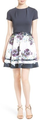 Women's Ted Baker London Stefh Fit & Flare Dress $279 thestylecure.com