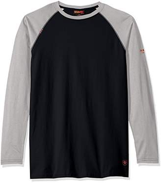 Ariat Men's Big and Tall Flame Resistant Long Sleeve Baseball Tee