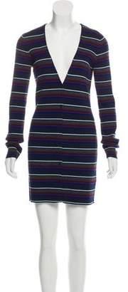 Alexander Wang Button-Up Sweater Dress