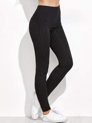 Shein Vertical Striped High Waist Leggings