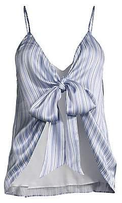 CAMI NYC Women's Arlo Silk Striped Reversible Wrap Cami
