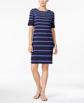 Karen Scott Striped T-Shirt Dress, Only at Macy's $44.50 thestylecure.com