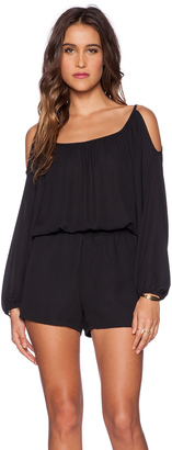 Eight Sixty Cold Shoulder Romper $127 thestylecure.com