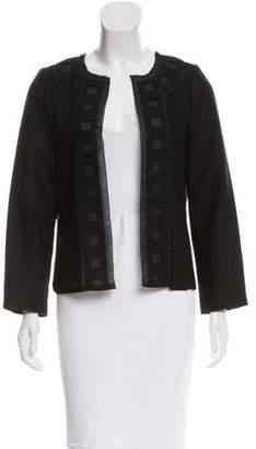 Lela Rose Cutout Open Front Jacket