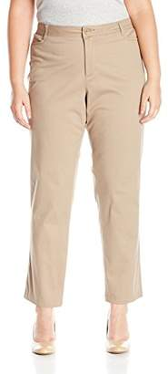 Lee Indigo Women's Plus Size Straight Leg Casual Twill Pant
