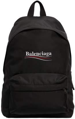 Balenciaga Political Logo Nylon Backpack