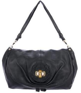 Nina Ricci Leather Turn-lock Hobo