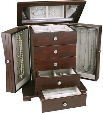 FINE JEWELRY Espresso Contemporary 4-Drawer Jewelry Box