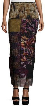 Fuzzi Patchwork Column Skirt, Gardenia $345 thestylecure.com