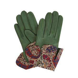Gizelle Renee - Palesa Green Leather Gloves With BM Liberty Tana Lawn