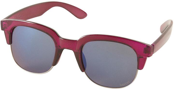 Topshop Purple Large Flat Top Sunglasses By Squint