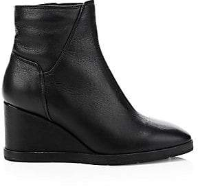 Aquatalia Women's Judy Weatherproof Leather Wedge Booties