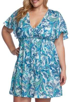 Lauren Ralph Lauren Plus Fiesta Paisley Short-Sleeve Tunic