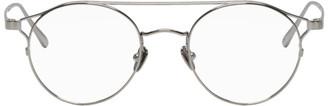Linda Farrow Luxe Silver Round 805C9 Glasses