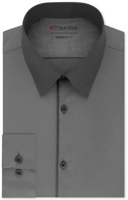 Calvin Klein Men Extra-Slim Fit Performance Stretch Temperature-Regulating Colorblocked Dress Shirt