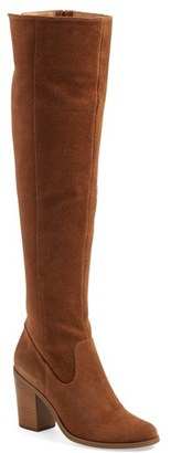 Women's Steve Madden 'Eternul' Over The Knee Block Heel Boot $169.95 thestylecure.com