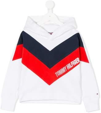 Tommy Hilfiger Junior logo striped hoodie