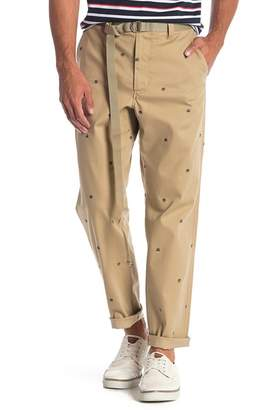 Perry Ellis Embroidered Design Chinos