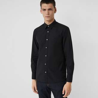 Burberry Stretch Cotton Poplin Shirt , Size: M