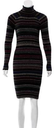 Milly Turtleneck Knit Sweater Dress