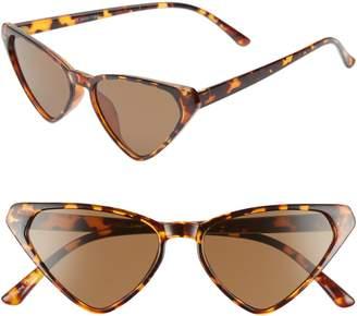 Leith 54mm Angular Cat Eye Sunglasses