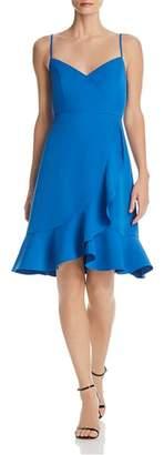Aqua Flounced Crossover Dress - 100% Exclusive