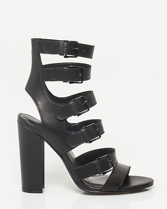Le Château Leather Block Heel Gladiator Sandal