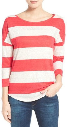 Women's Tommy Bahama 'Landers' Stripe Three-Quarter Sleeve Tee $78 thestylecure.com