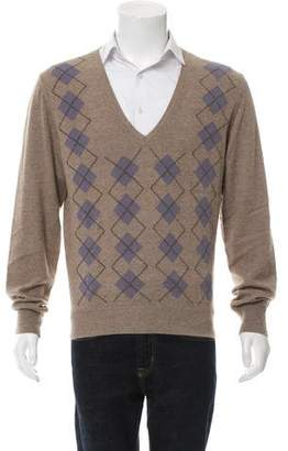 Bottega Veneta Cashmere Argyle Sweater