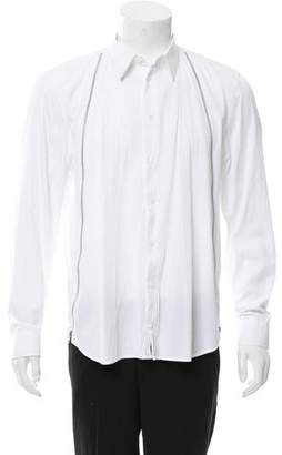 Givenchy Zipper-Accented Button-Up Shirt