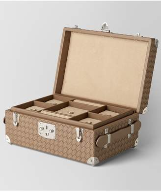 Bottega Veneta Ash Intrecciato Nappa Leather Jewelry Travel Case