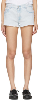 Stella McCartney Blue Denim Cut-Off Shorts