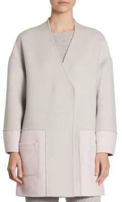 St. John Cocoon-Sleeve Coat